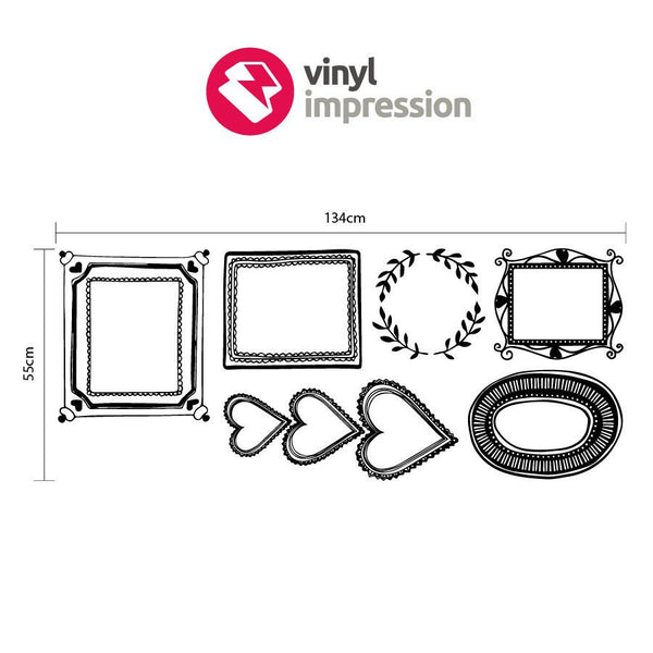 Picture frames wall sticker pack in  by Vinyl Impression