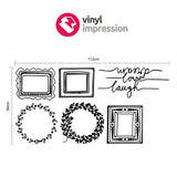 Picture frames wall sticker pack in Popular by Vinyl Impression