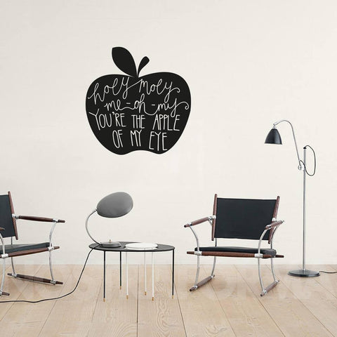 Holy Moly hand drawn illustrative vinyl wall art sticker