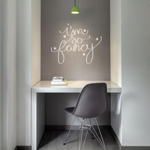 I'm so fancy word based typographic wall art sticker decal graphic
