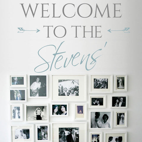 Welcome decal wall sticker graphic for homes and hallways