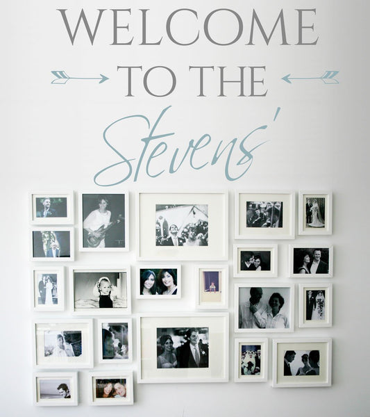 Welcome to our home customisable vinyl wall sticker in  by Vinyl Impression