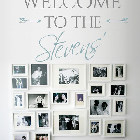 Welcome visitors, family and friends into your home with this beautiful vinyl wall decal sticker graphic