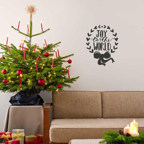 Joy to the World Christmas decoration wall sticker