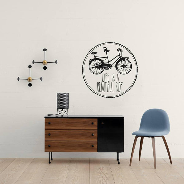 Life is beautiful wall decal in  by Vinyl Impression