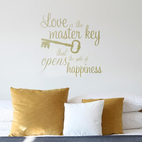 love key mock up above double bed - square crop