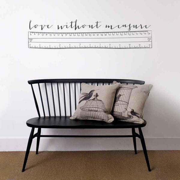 Love without measure wall sticker in Love by Vinyl Impression