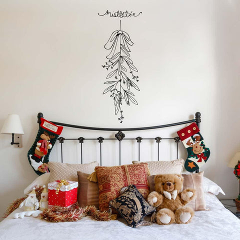 Removable mistletoe Christmas wall decoration wall art sicker