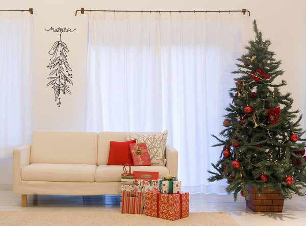 Mistletoe Christmas decoration wall sticker in  by Vinyl Impression
