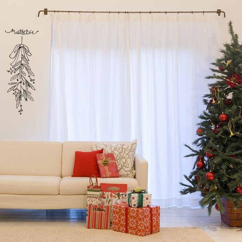 Mistletoe Christmas wall art sticker decoration for the festive holidays