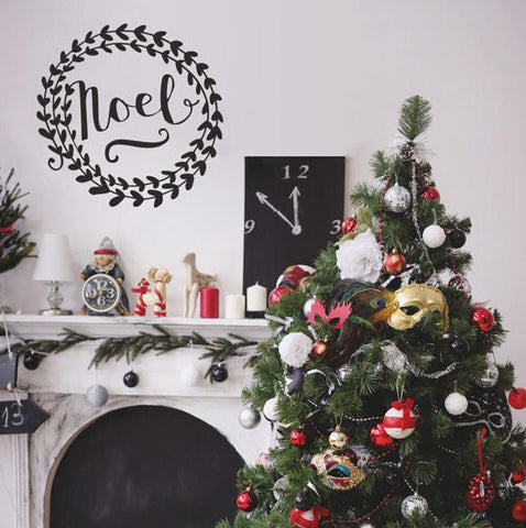 Noel typographic Christmas decoration wall stickers