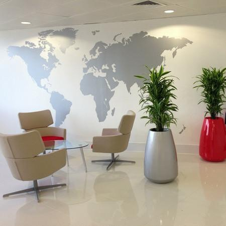 office world map. Extra Large World Map Vinyl Wall Sticker In By Impression Office T