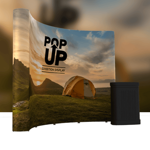 Pop-up Banner Curved
