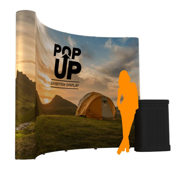 Pop-up Banner Curved in £200 + by Vinyl Impression