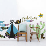 Cowboys and Indians wall sticker pack in Kids by Vinyl Impression