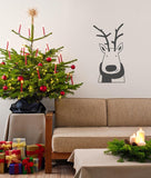 Reindeer with scarf Christmas decoration wall sticker in  by Vinyl Impression