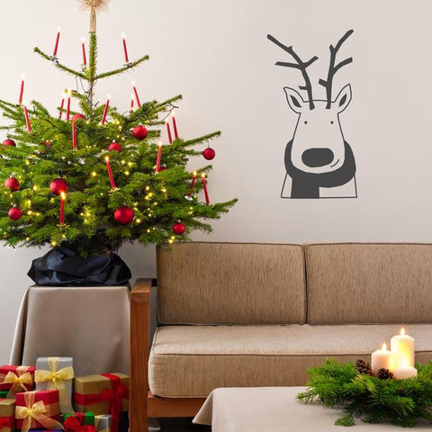 removable Reindeer christmas decoration for walls