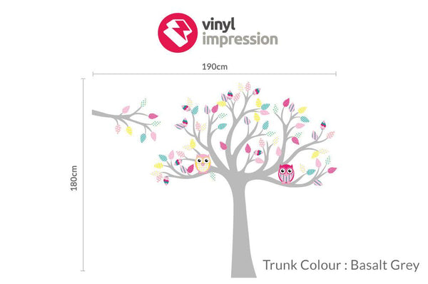 Tree with pattern leaves - Multi-coloured in  by Vinyl Impression