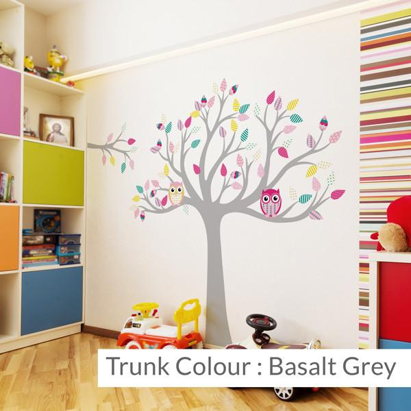 Tree with pattern leaves -Multi-coloured in Nature by Vinyl Impression