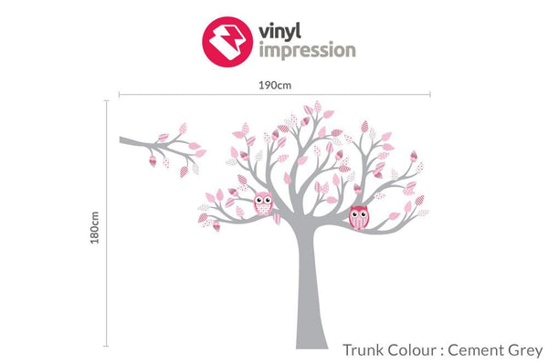 Tree with pattern leaves -Pinks in  by Vinyl Impression