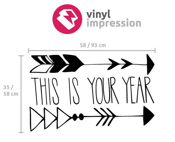 This is your year wall sticker in  by Vinyl Impression