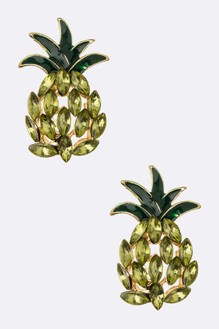 Crystal Pineapple Studs