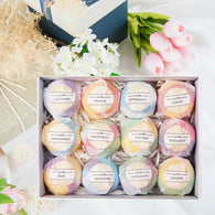 12 Piece Bath Bomb Set