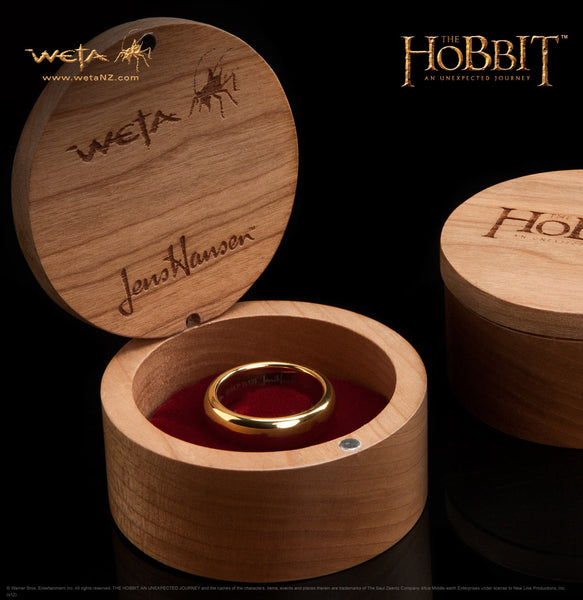 The Hobbit: An Unexpected Journey: The One Ring - Gold Plated Tungsten Carbide (without Elvish runes)