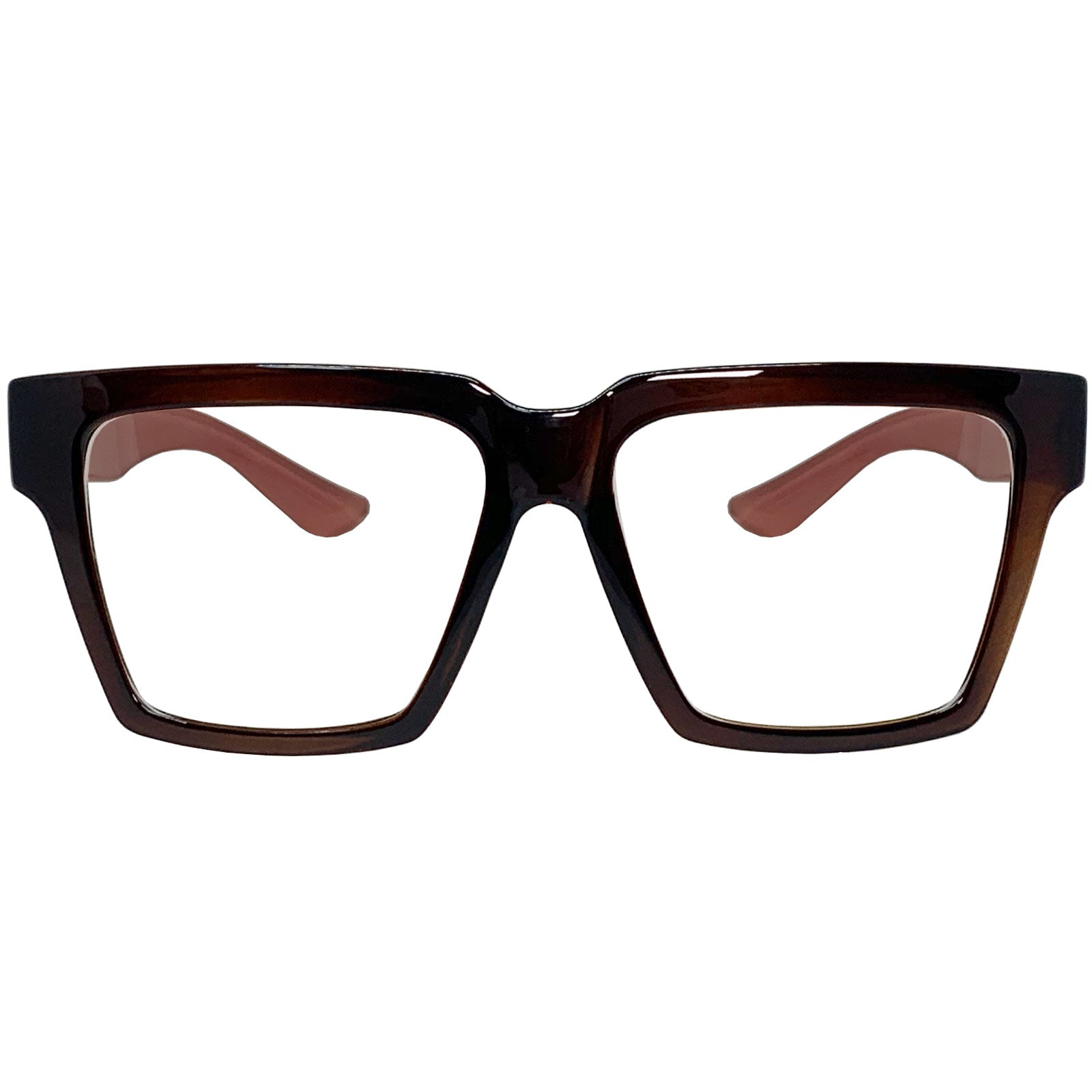 Super Oversize Eyeglasses Frame KS373 Brown