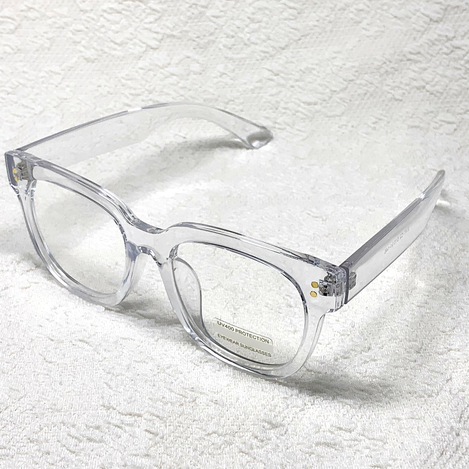 ENCACC Retro Nerd Geek Oversize Eye Glasses Horn Rim Framed Clear Lens Spectacles Crystal 21411 - ENCACC