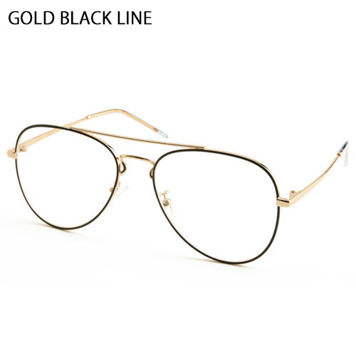 Vintage Aviator Eyeglasses Metal Frames Clear Lens Glasses Non Prescription 53761 - ENCACC