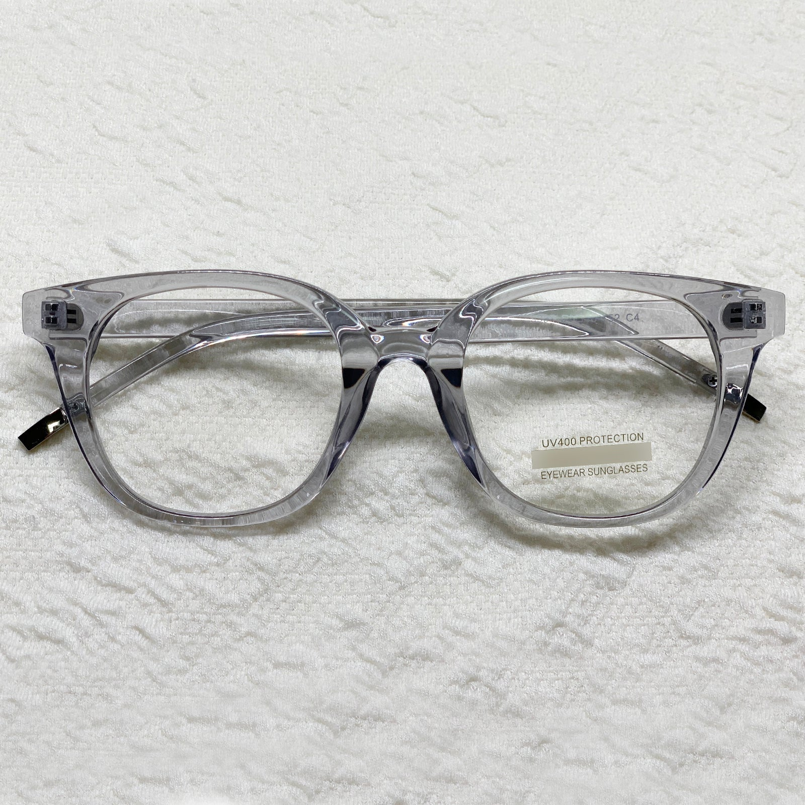 ENCACC Retro Nerd Geek Oversize Eye Glasses Horn Rim Framed Clear Lens Spectacles Gray 53871 - ENCACC