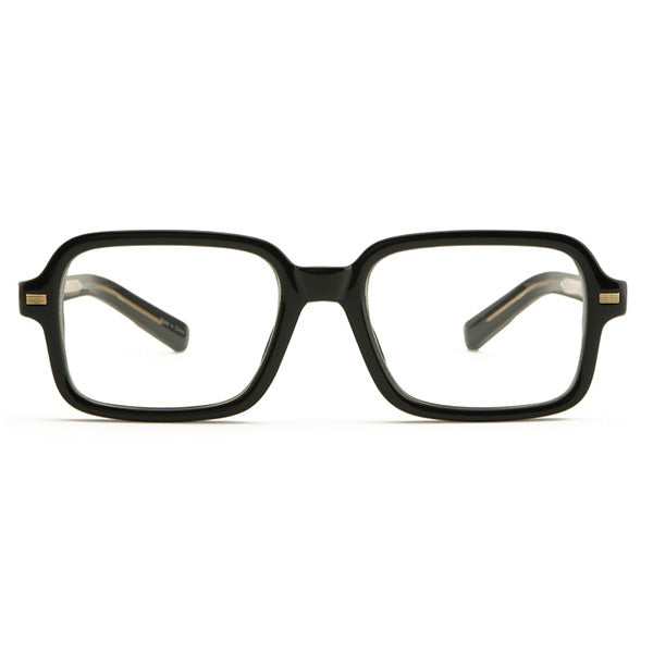 ENCACC Big Square Horn Rim Eyeglasses Nerd Spectacles Clear Lens Classic Geek Glasses 5475