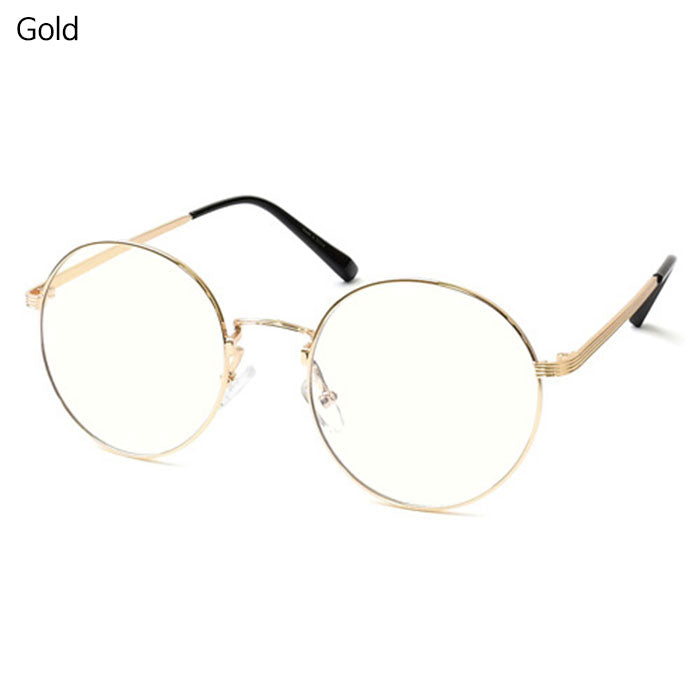 ENCACC Classic Round Retro Eyeglasses Blue Light Blocking Lens Glasses Non-Prescription 7015 - ENCACC