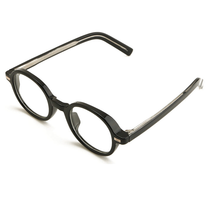 ENCACC Round Horn Rimmed Eye Glasses Clear Lens Oval Frame Non Prescription 2173