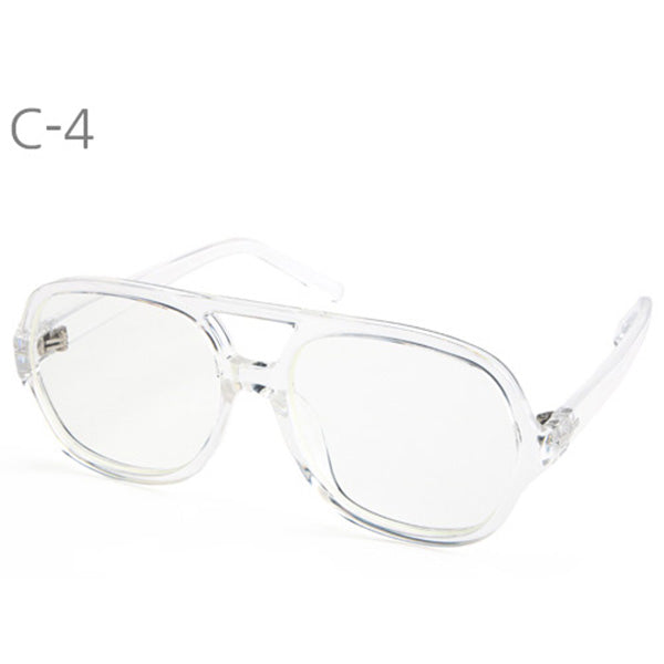 Oversize Square Thick Horn Rimmed Sunglasses Vintage Inspired Geek Retro Eyeglasses - ENCACC