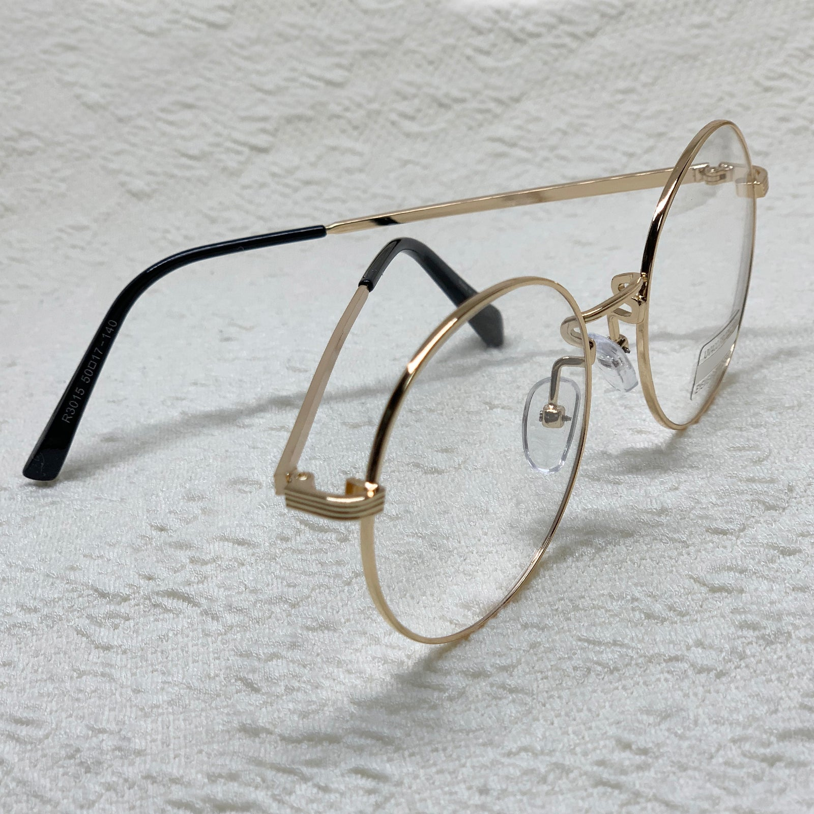 ENCACC Classic Round Retro Eye glasses Clear Lens Glasses Non Prescription Metal Frame 3015 - ENCACC