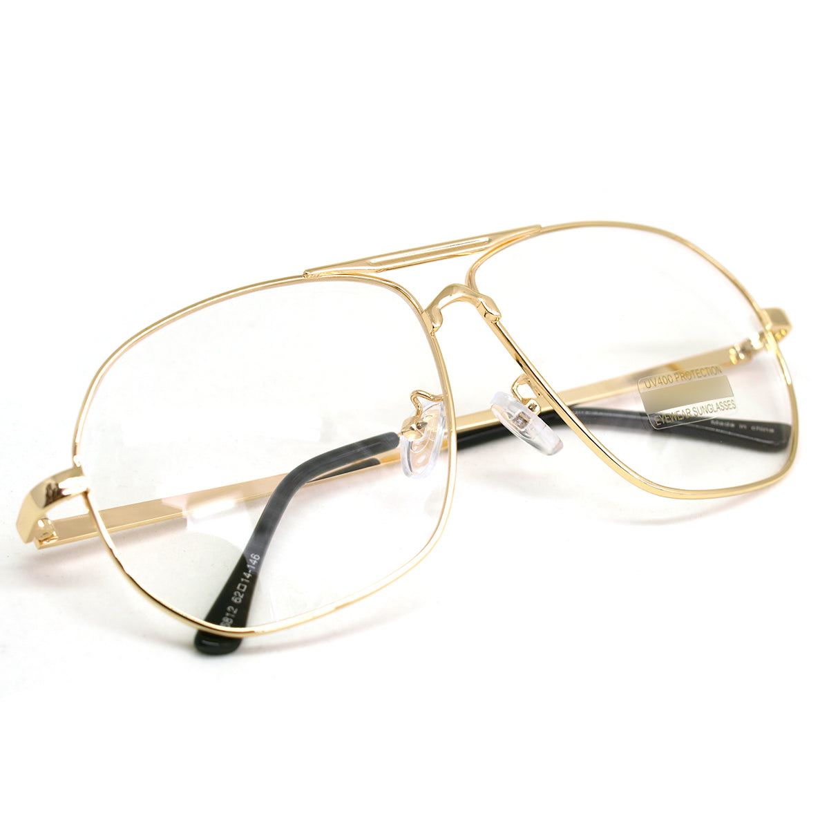 Vintage Aviator Eyeglasses Metal Frames Clear Lens Glasses Non-prescription 6812 - ENCACC