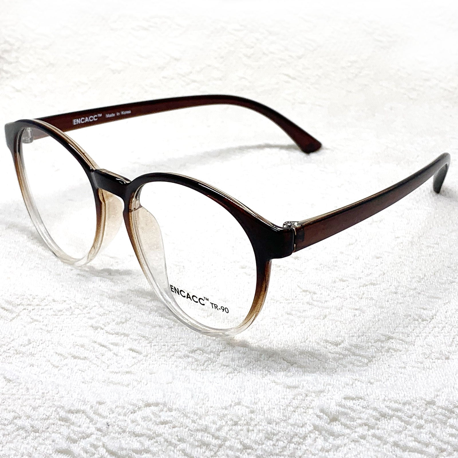 Oversize Big Round Eye Glasses Horn Rimmed Eye wear Frame TR90 Non Prescription - ENCACC