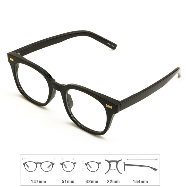 ENCACC Retro Nerd Geek Oversize Eye Glasses Horn Rim Framed Clear Lens Spectacles 54781 - ENCACC