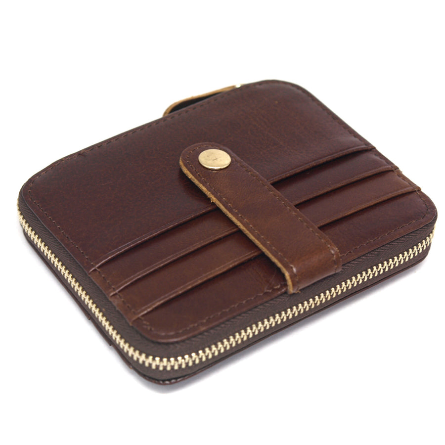 ENCACC Leather Wallet Zip Around Coin Pocket Credit Card Holder Purse EZW 11 - ENCACC
