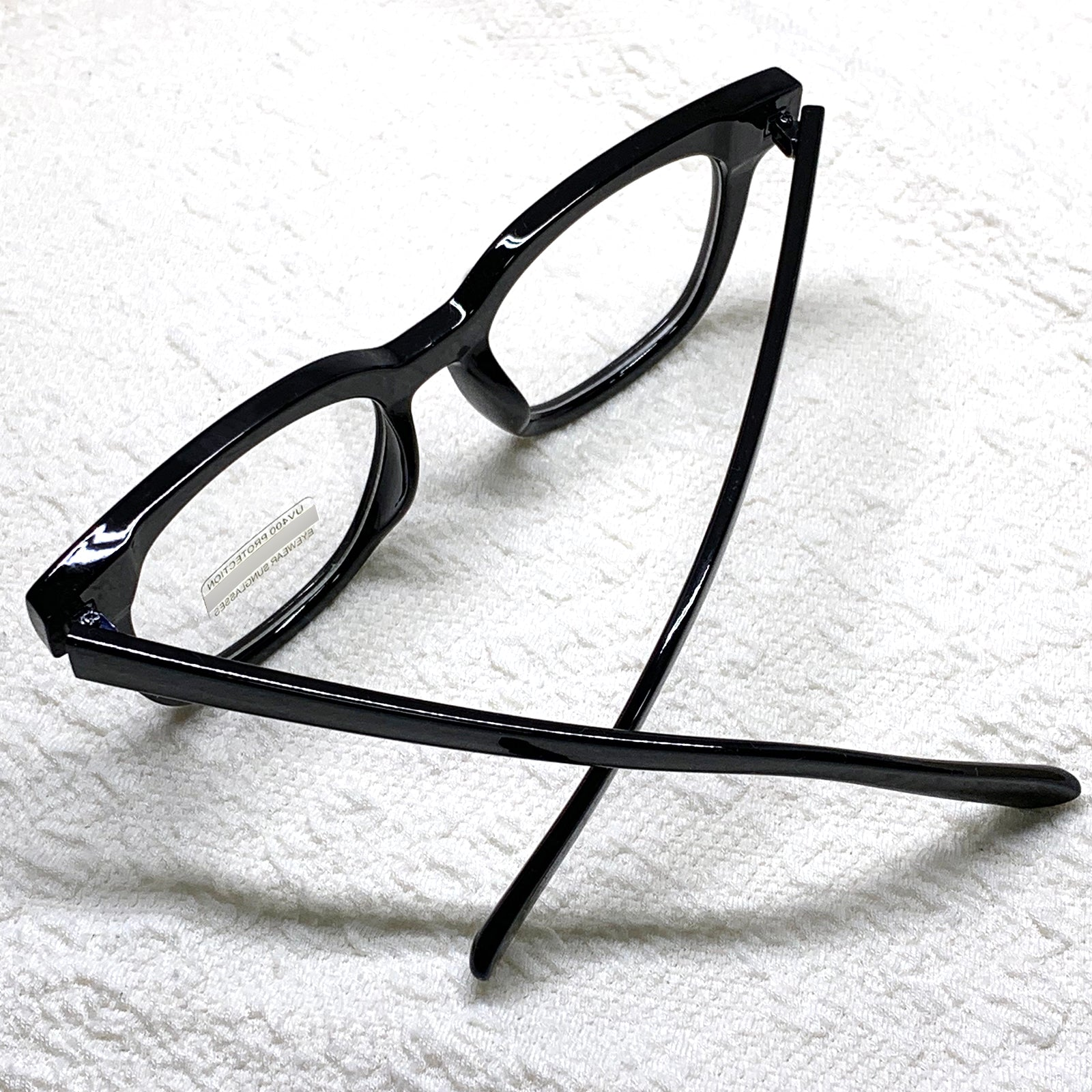ENCACC Nerd Geek Oversize Eye Glasses UV400 Clear Lens Spectacles Black 89101 - ENCACC