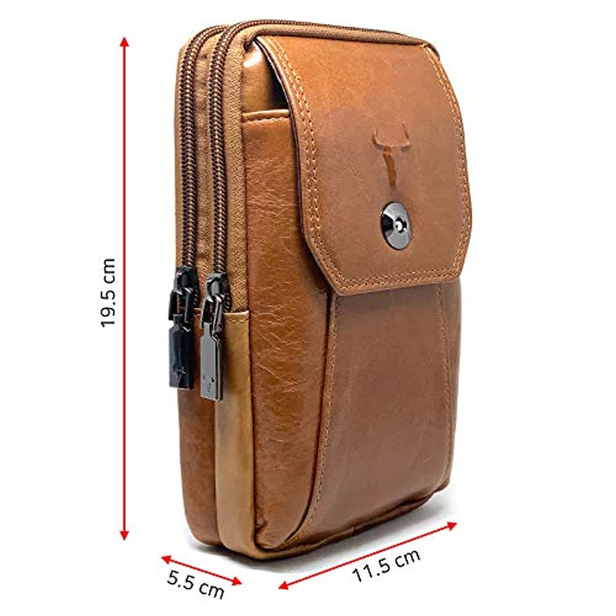 Phone purse iPhone 11 Pro Max Leather Cell phone Holster Case Belt Loop Pouch Travel Messenger Bag Brown 2353 - ENCACC