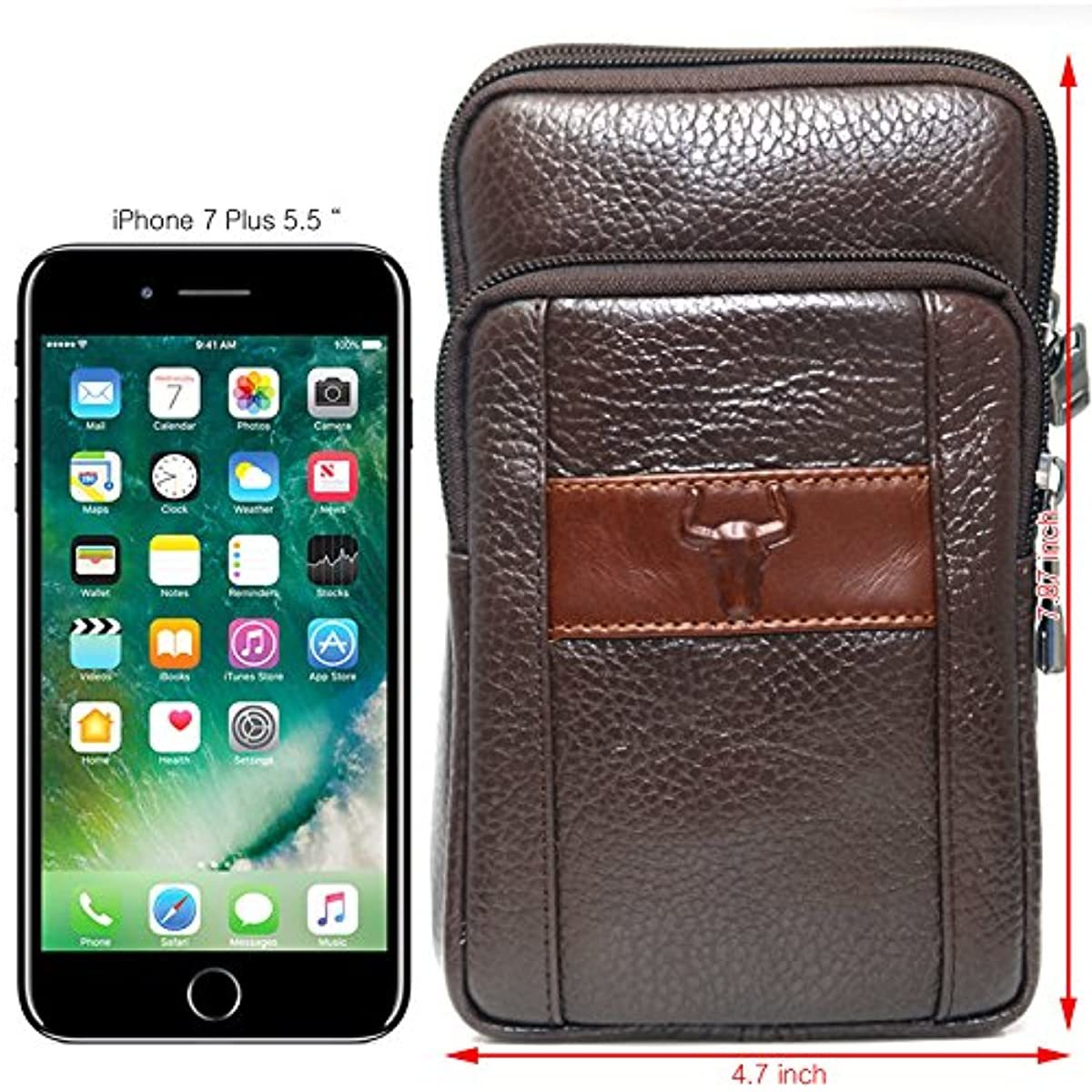 Messenger Bags Tactical Phone Bag Pouch Bum Brown Leather Bag Waist Pack Travel Bags Cases Holsters Saddlebag 9368 - ENCACC