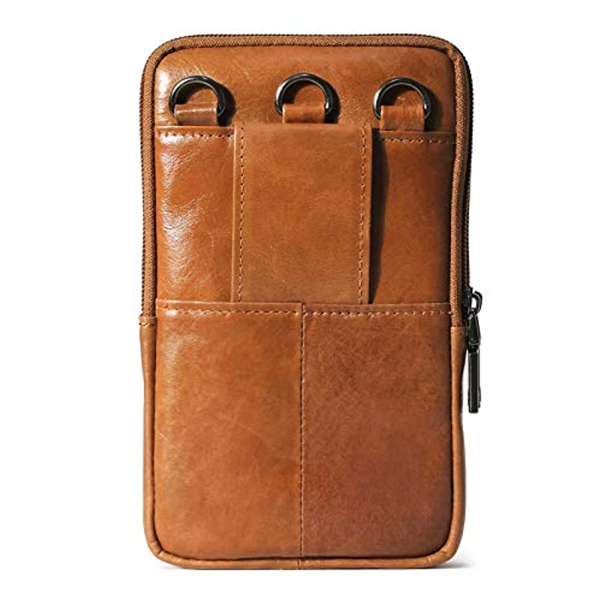 Phone purse iphone 11 Pro Max Leather Cell phone Holster Case Belt Loop Pouch Travel Messenger Bag 2184 - ENCACC