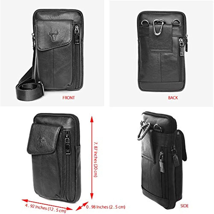 Messenger Bags Tactical Phone Bag Pouch Bum Leather Bag Waist Pack Travel Bags Cases Holsters Black 7017 - ENCACC