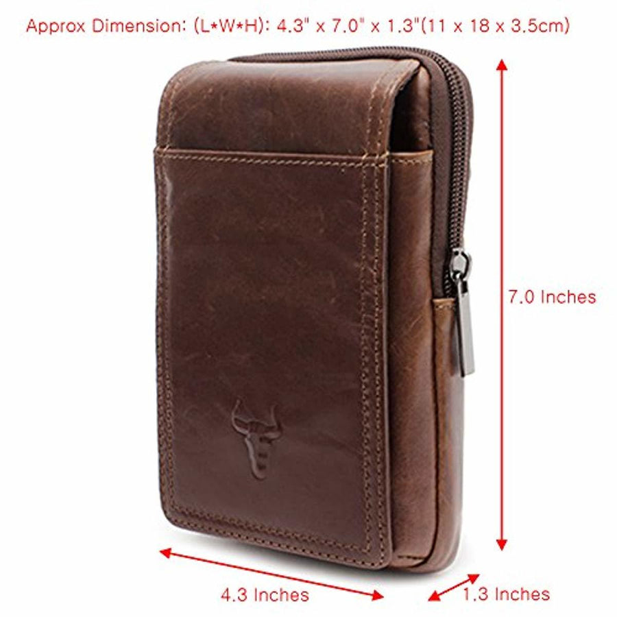 iPhone 11 Pro Max Leather Phone Bag Waist Pack Messenger Bags Leather Bag Travel Bags Cellphone Cases Holsters 9270 - ENCACC