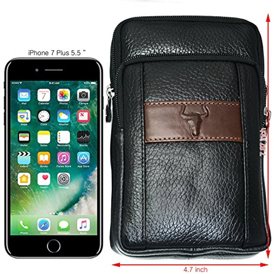 Messenger Bags Tactical Phone Bag Pouch Bum Black Leather Bag Waist Pack Travel Bags Cases Holsters 9368 - ENCACC