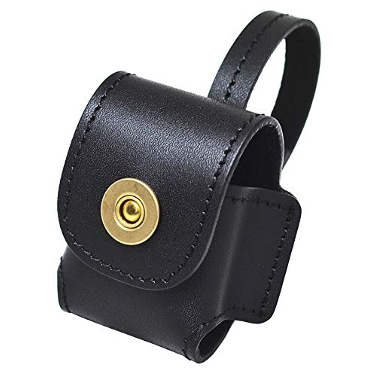 AirPods Leather Case Protective Portable Cover Skin Brass Clasp with Keychain Ring for Apple AirPods Charging Case - ENCACC
