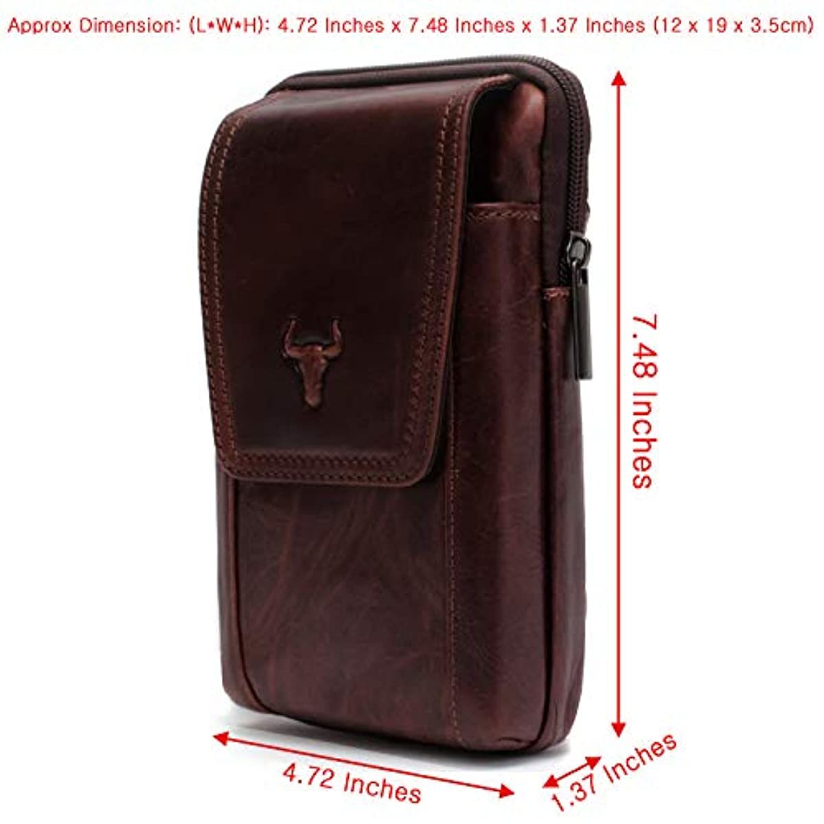 Waist Pack Messenger Bags Tactical Cellphone Phone Pouch Bum Leather Bag Travel Bags Cases Holsters Saddlebag 9265 - ENCACC